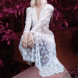 Scott McClintock Sheer Bohemian Dress Size 10